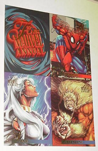 Flair 95 Marvel Annual Promo - Storm, Namor, Sabre