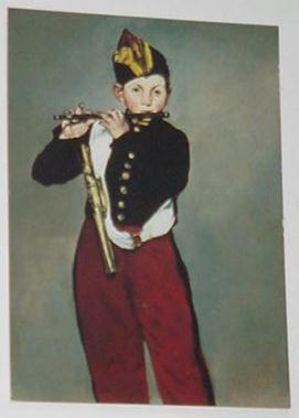 Fife Player Trading Card Edouard Manet 1866