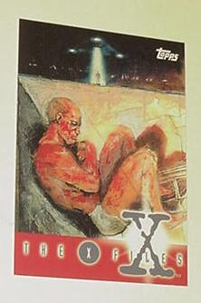 X-Files Trading Card Promo P4 Topps 1995