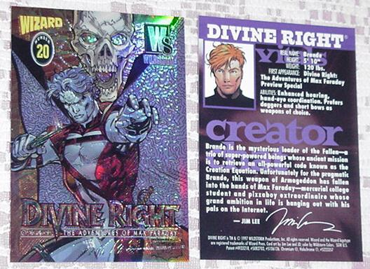 Divine Right Chromium Trading Card Jim Lee # 20