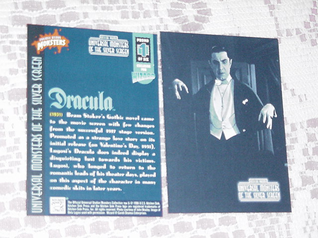Dracula Trading Card Universal Monsters Promo 1 of