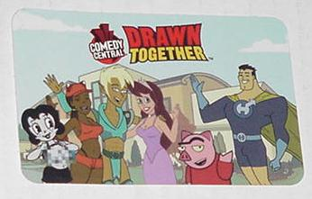 Drawn Together Trading Card Comedy Central Cartoon