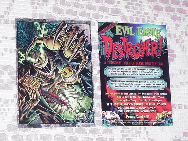 Chaos Comics Evil Ernie & Smiley Trading Card Greg