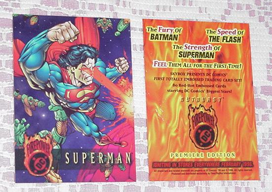 DC FirePower Superman Embossed Trading Card Skybox
