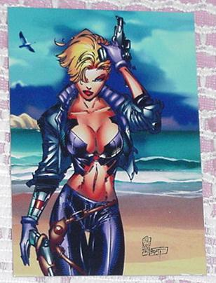 Cyberforce Trading Card Image # P2 Ballistic Swims