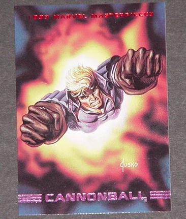 Cannonball Trading Card New Mutants Uncanny Avenge