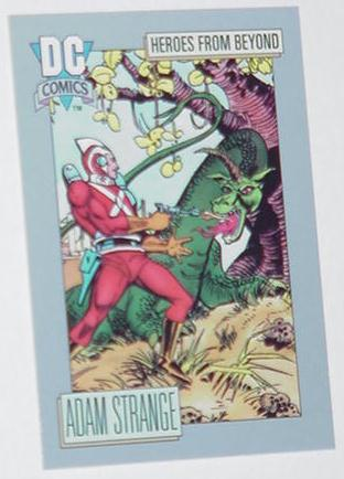 Adam Strange Trading Card Showcase Rann Thanagar W