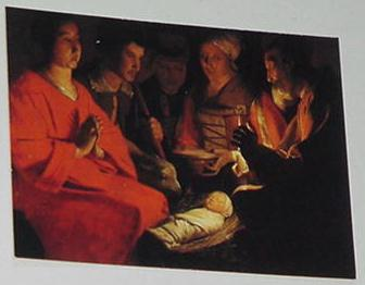 Adoration of The Shepards Trading Card Georges de