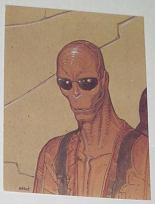 Boaz the Cydberg Assassin Trading Card Moebius Art