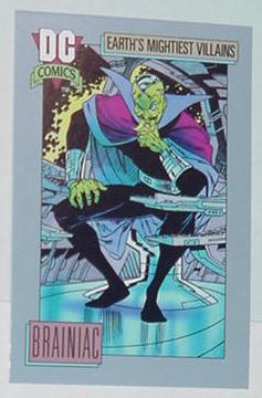 Brainiac Trading Card Superman Villain