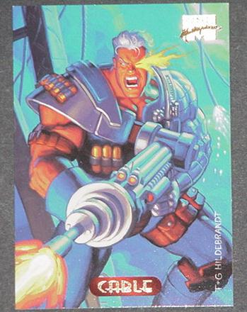 Cable Trading Card X-Force New Mutants Greg Tim Hi