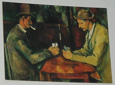Card Players Trading Card Paul Cezanne 1890
