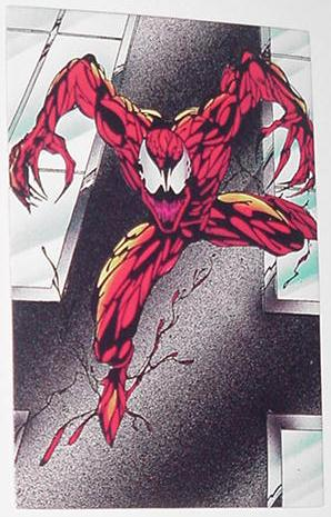 Carnage Trading Card Spider-Man Maximum