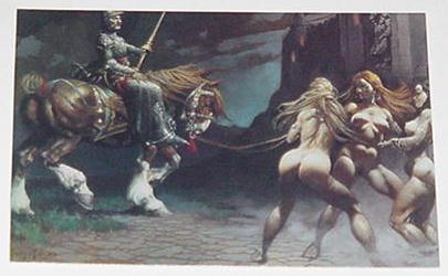 Castle Of Sin Trading Card Frank Frazetta Art