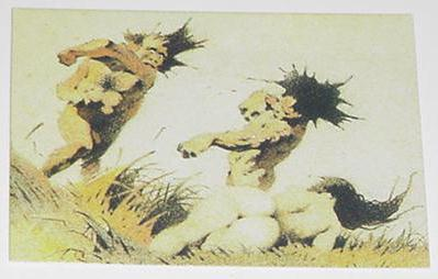 Cavemen Fight Trading Card Frank Frazetta Art