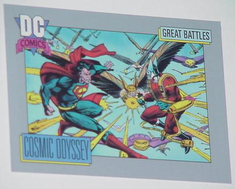 Cosmic Odyssey Trading Card Superman vs Orion