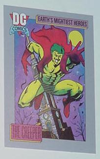 Creeper Trading Card Showcase DC Comics