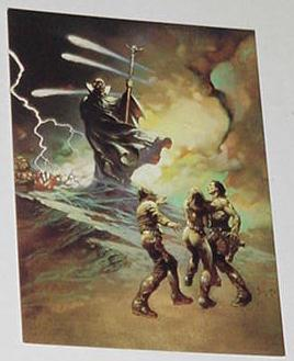 Darkness At Time's Edge Trading Card Frank Frazett