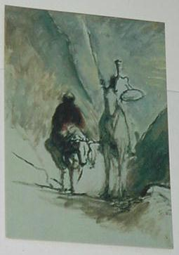 Don Quixote Trading Card Honore Daumier