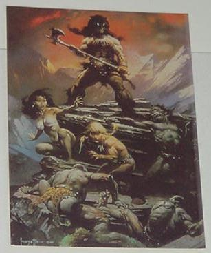 Fire and Ice Trading Card Frank Frazetta Art