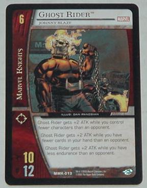 VS System Ghost Rider Trading Card Game Johnny Bla