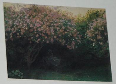 Lilacs In Gray Trading Card Claude Monet