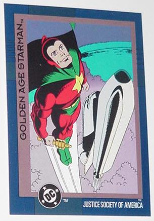 DC Comics Golden Age Starman Trading Card Justice
