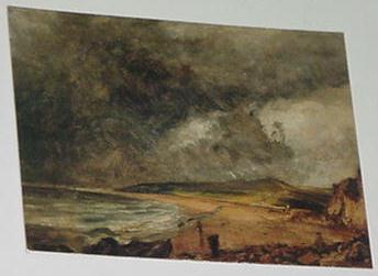 Storm At Weymouth Bay Trading Card John Constable