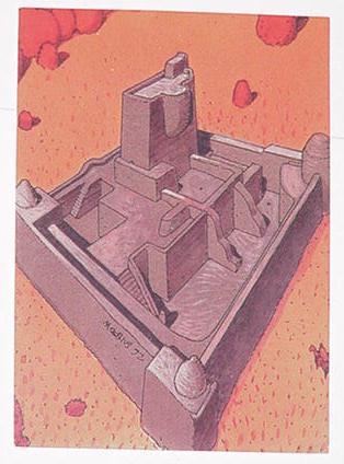 White Citadel Trading Card Moebius Art