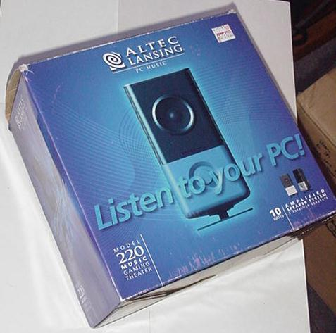 Altec Lansing 220 2.0 Computer Speakers Black