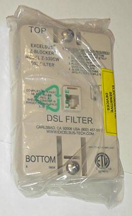 Excelsus Z-Blocker DSL Filter Model Z-330CW NEW