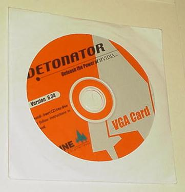 Nvidia Detonator CD Version 6.34