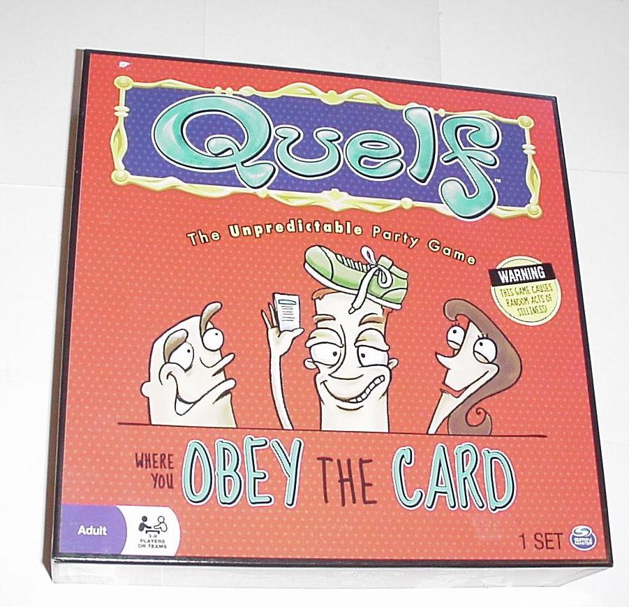 Quelf the Unpredictable Party Game Spin Master