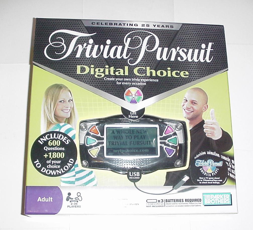 Trivial Pursuit Digital Choice w/ Box Instruction