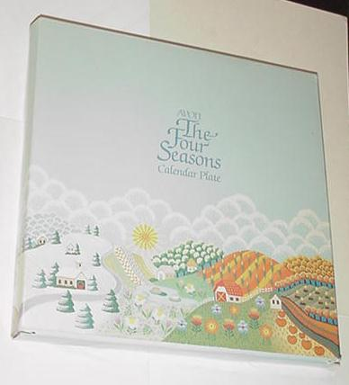 Avon The Four Seasons Collector Calendar Plate Box