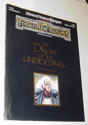 AD&D 2nd Ed Forgotten Realms Drow of Underdark