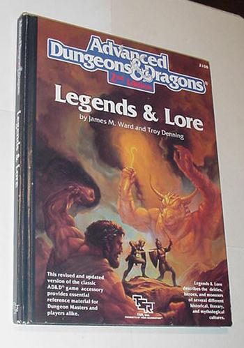 AD&D 2nd Edition Legends & Lore TSR 2108 Hardcover