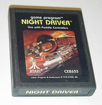 Atari 2600 Night Driver Video Game Only