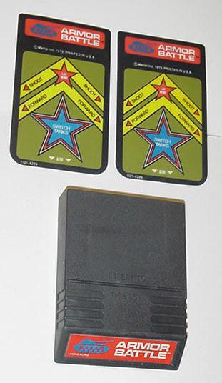 Intellivision Armor Battle Game Cartridge 2 overla
