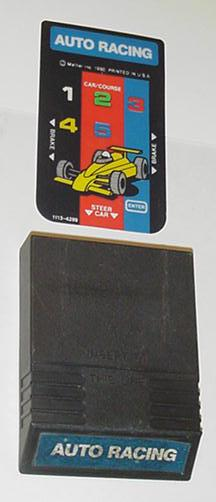 Intellivision Auto Racing Game Cartridge 1 overlay