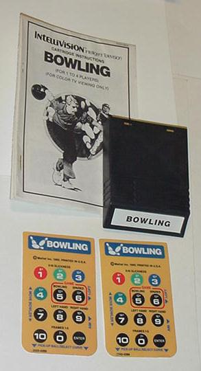 Intellivision Bowling w/ Instructions 2 Overlays