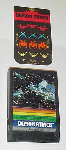 Intellivision Demon Attack Game Cartridge 1Overlay