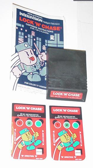 Intellivision Lock' N' Chase Game Instructions