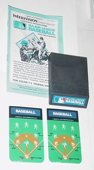 Intellivision Major League Baseball Game Instrux