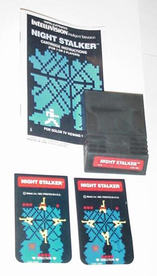 Intellivision Night Stalker Game Cartridge Inst2Ov