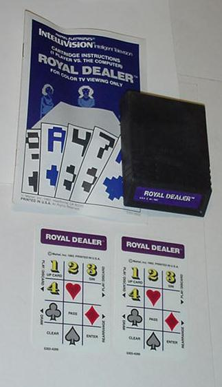 Intellivision Royal Dealer Game Cartridge Instrux