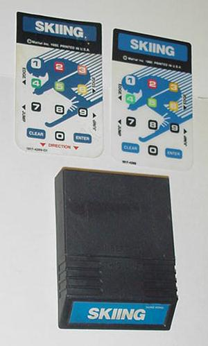 Intellivision Skiing Game Cartridge w/ 2 overlays