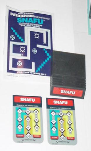 Intellivision Snafu Game Cartridge Instrux overlay