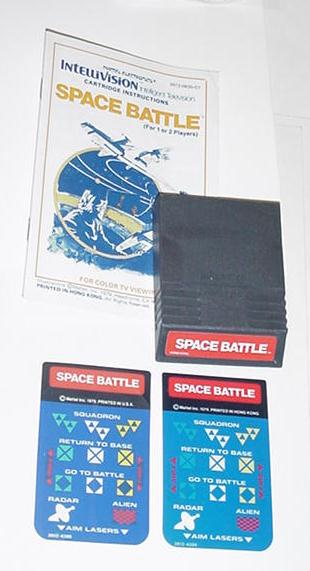 Intellivision Space Battle Game Cartridge Instrux