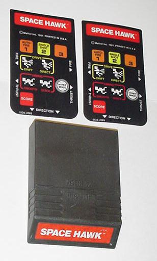 Intellivision Space Hawk Game Cartridge 2 Overlays